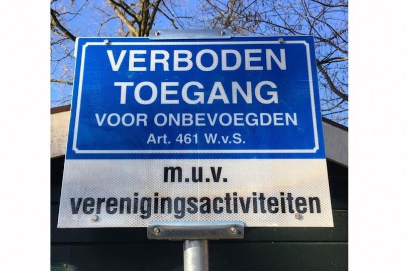 Foto bij Herinnering: Verboden toegang sportpark De Koerbelt als er geen verenigingsactiviteiten zijn!