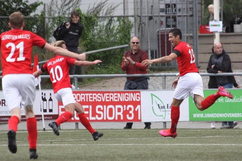 Foto bij Excelsior'31 in blessuretijd naast FC Lisse (1-1)