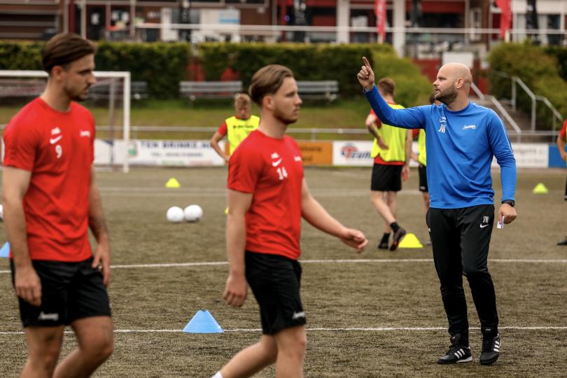 """Foto bij Jurjan Wouda over de voorbereiding: """"We werken toe naar de belangrijke bekerwedstrijd tegen HSC'21"""""""